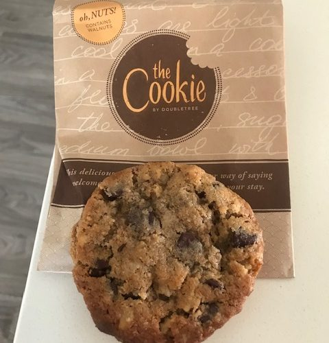 Warm Doubletree Chocolate Chip Cookie