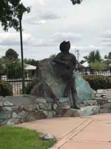 Rex Allen Statue in Willcox Park