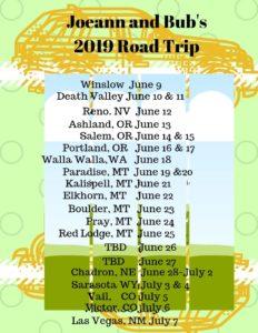Joeann & Bub's Road Trip 2019