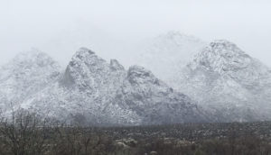 Snow on The Catalinas in Tucson