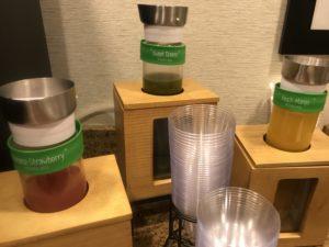 Fresh squeezed juices at Walla Walla's Hampton Inn