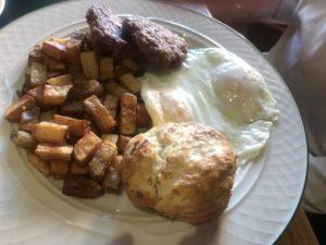 Breakfast at the Pollard Hotel, Red Lodge, MT