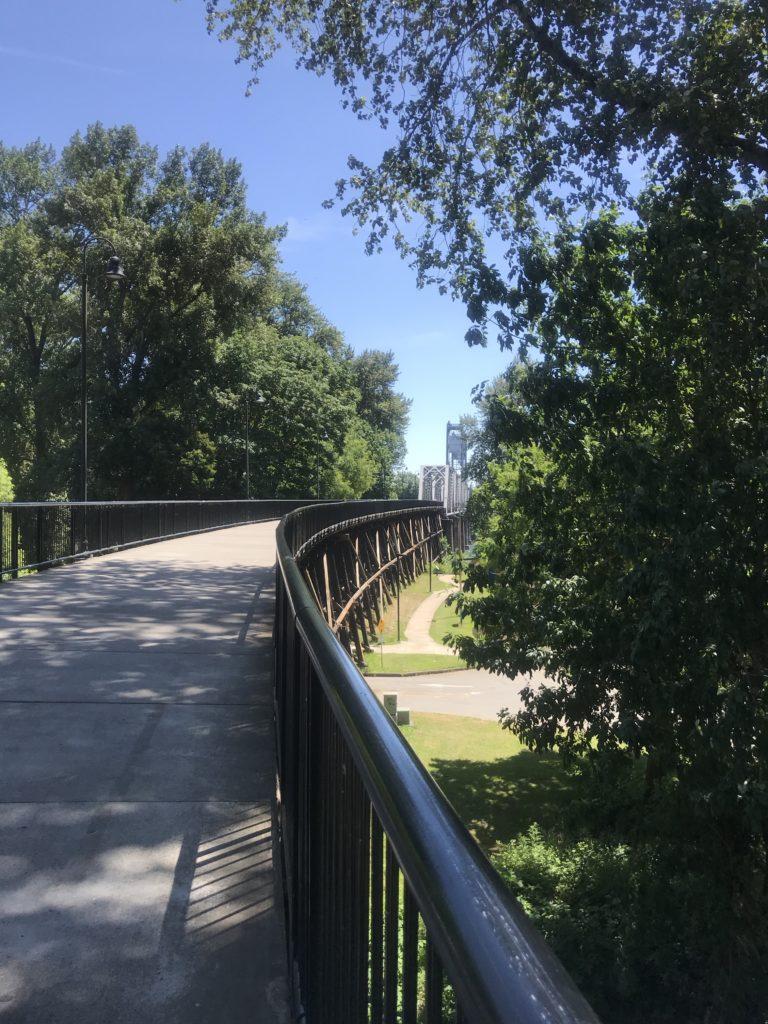 Salem's footbridge over the river