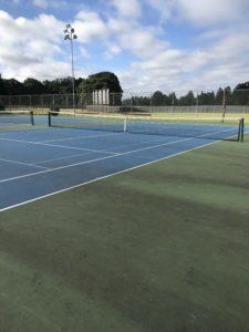 Tennis courts at Bush Pasture in Salem Oregon