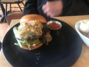 Loade Cheeseburger at Prerogative, Red Lodge, MT