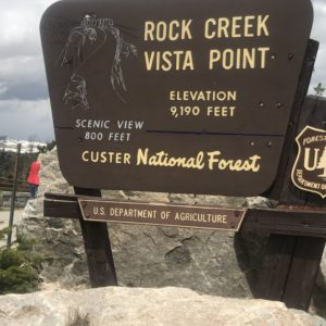 rock Creek Vista Point in Custer National Forest, MT