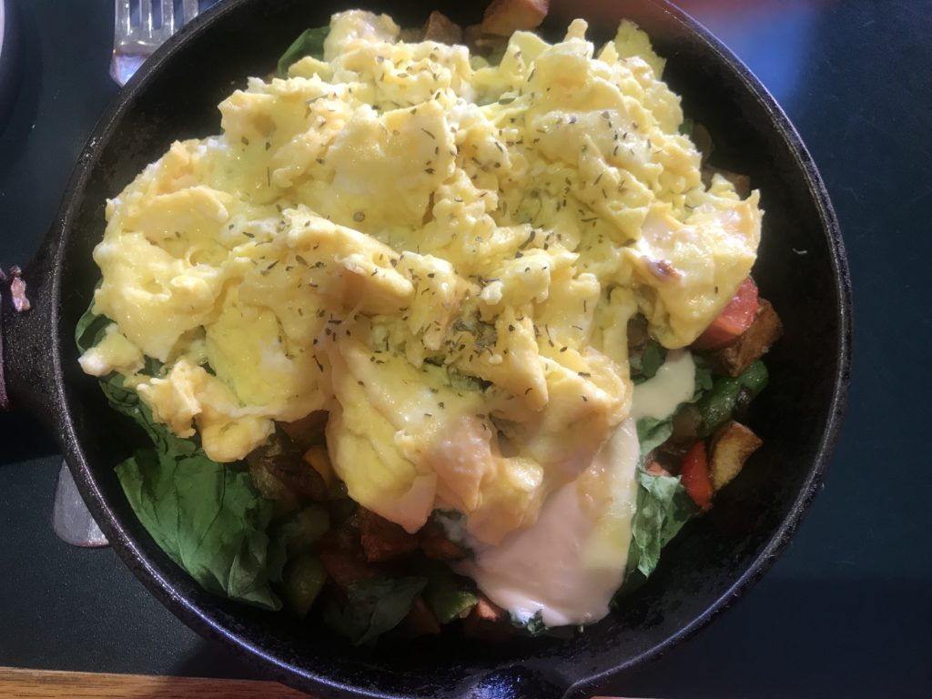 Skillet Breakfast at the Pollard Hotel, Red Lodge, MT