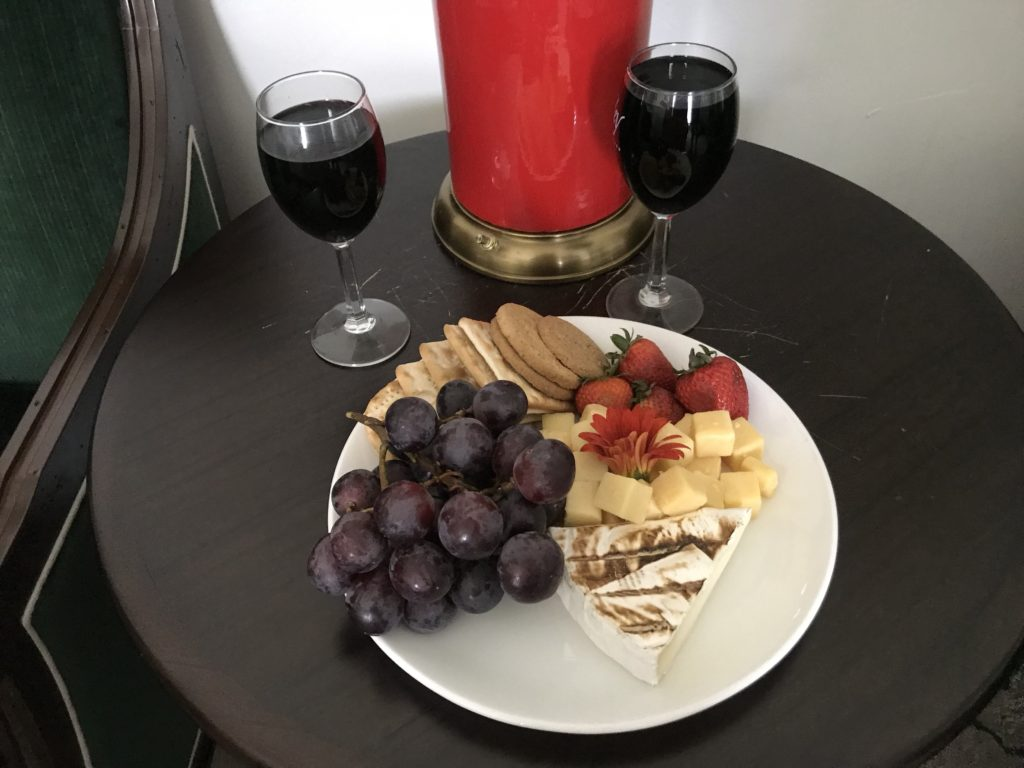 Welcome Cheese and Fruit at Inn at Deah Valley