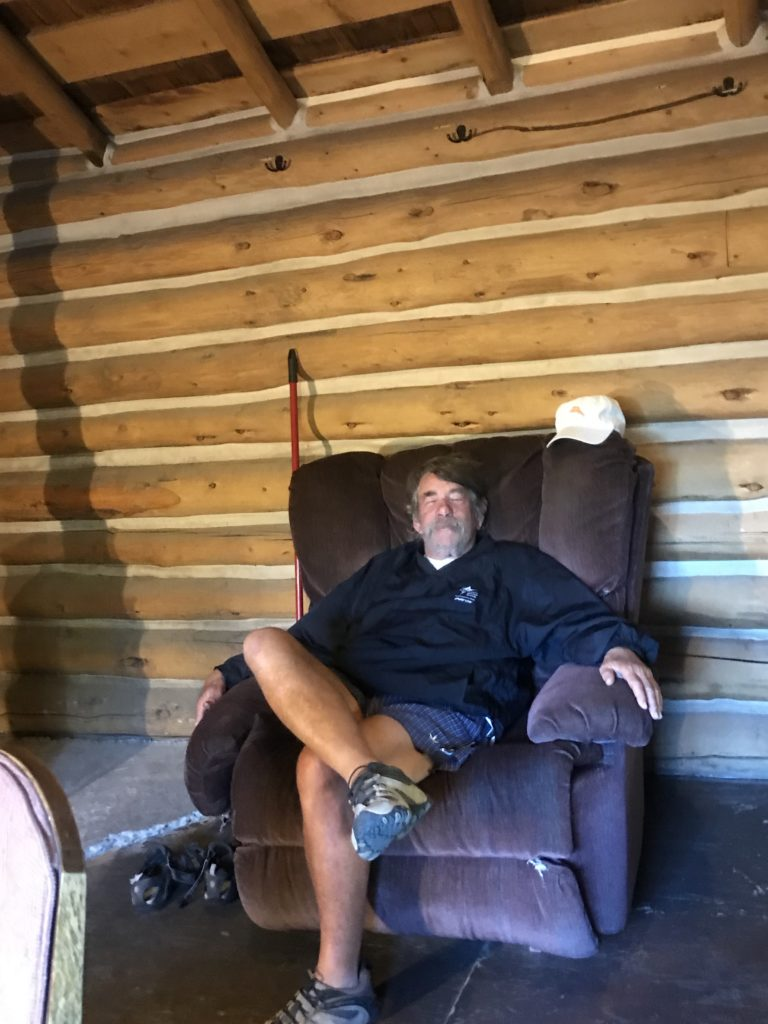 Bub Relaxing in cabin at Elkhorn Hot Springs, MT