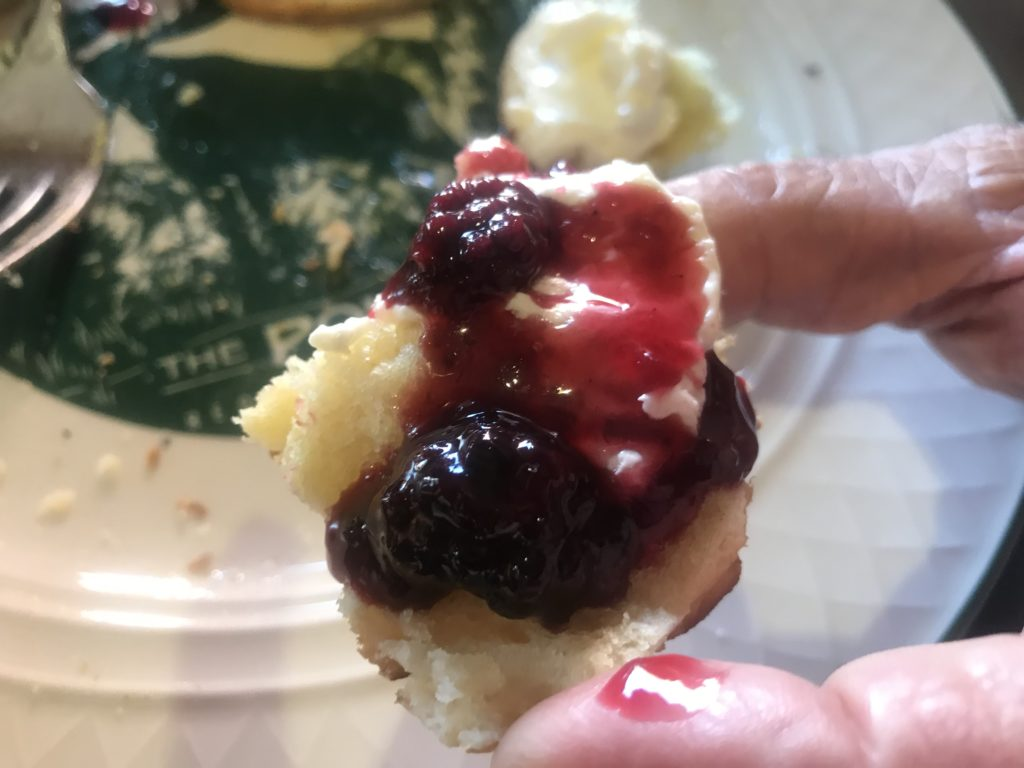 Berry Jam on Biscuit at Pollard Hotel
