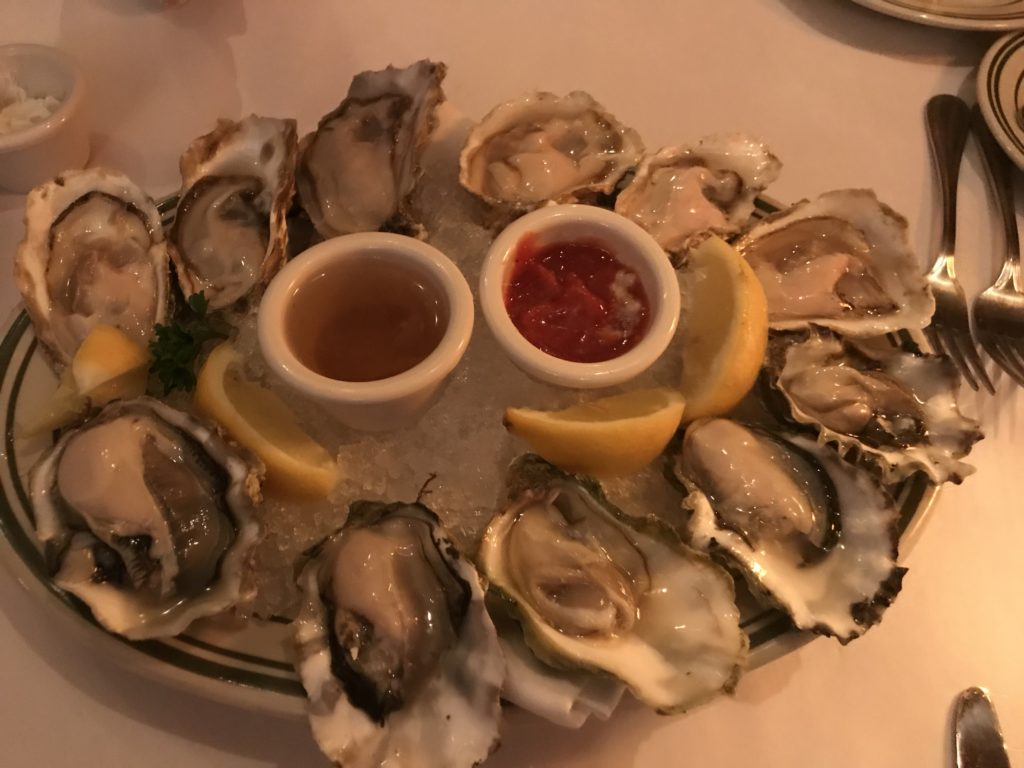 oysters at Jakes Portland Oregon