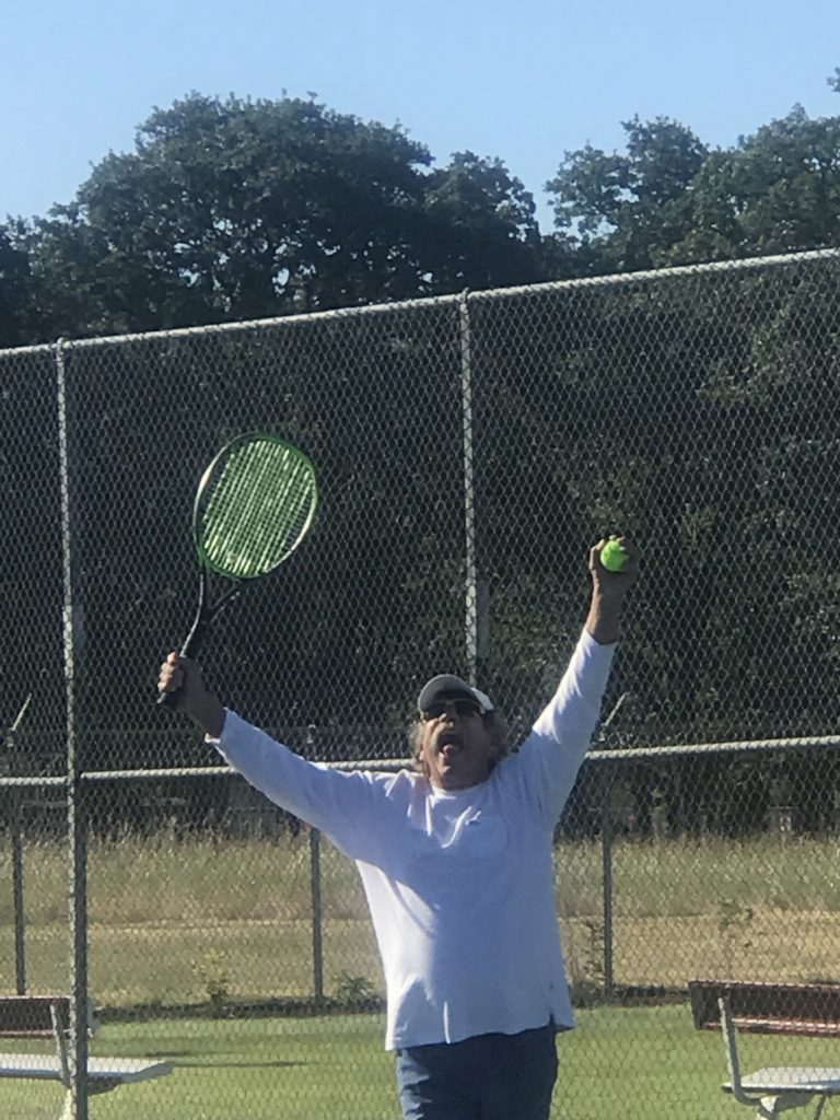 Bub wins at tennis at Bush Pasture, Salem, Oregon