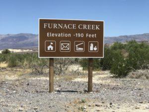 Death Valley 190 ft. below sea level