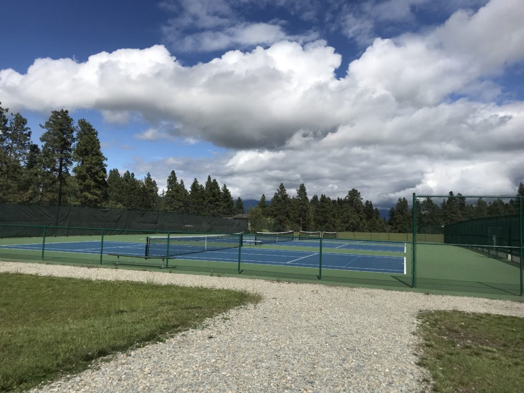 Tennis courts at Flathead Community College Kalispell MT