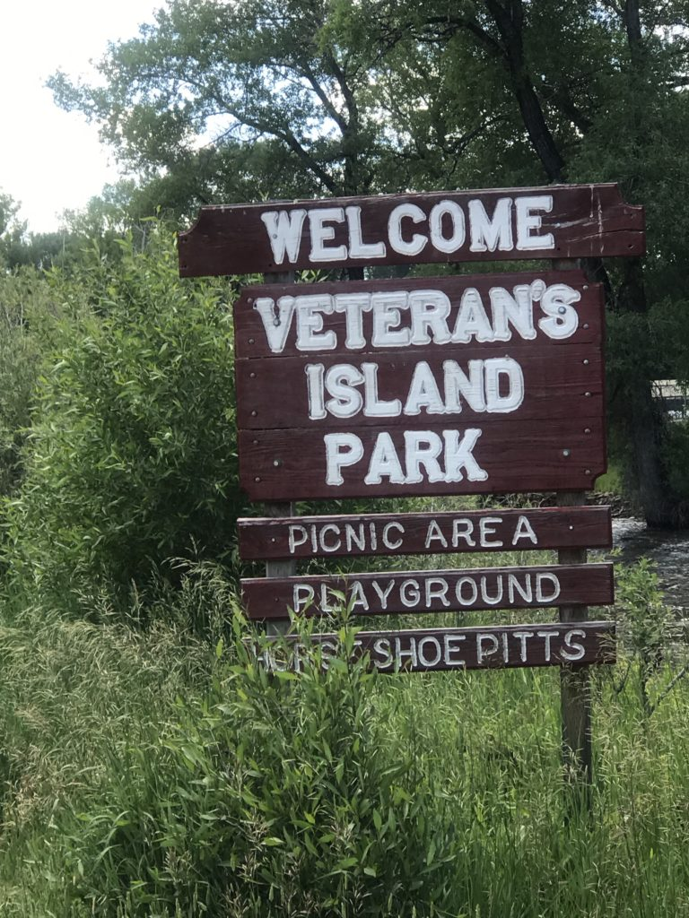 Veterans Park in Saratoga. Wy