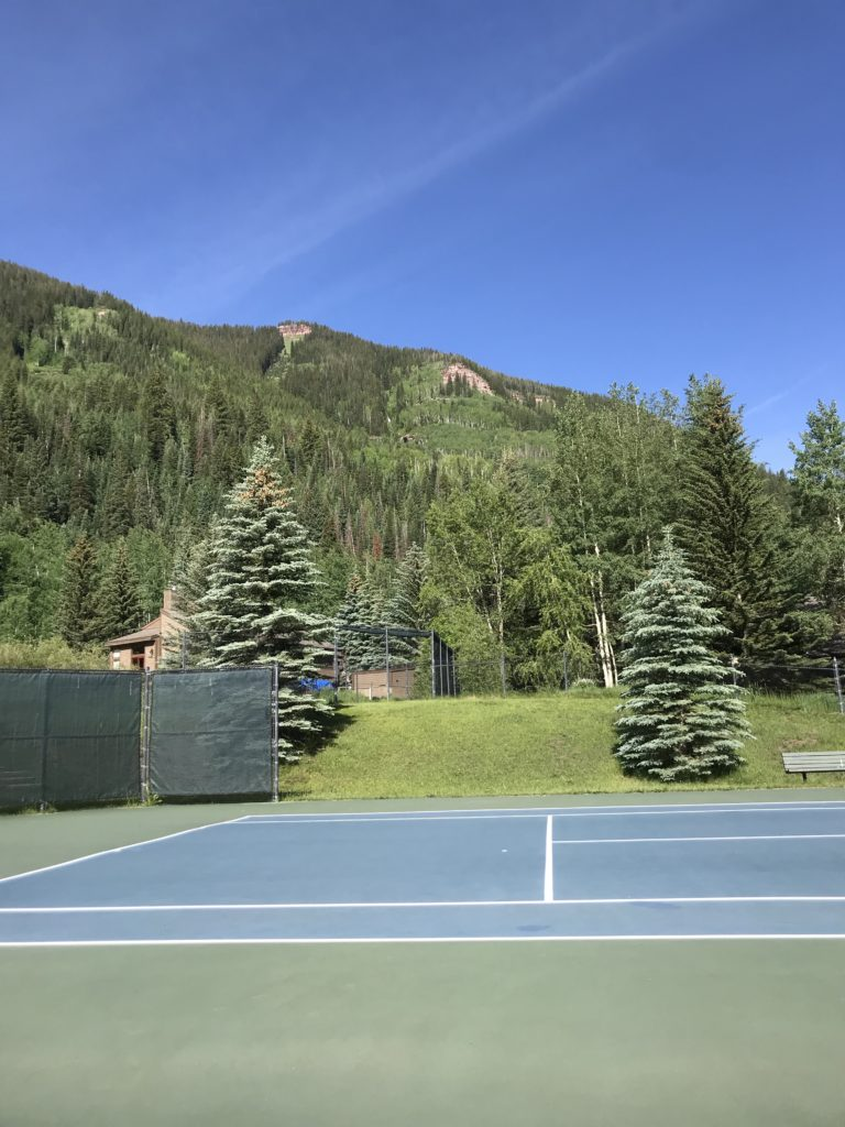Tennis courts at Vail Racquet Club Resort