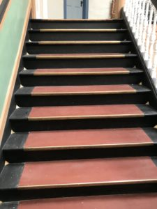 Original Stairs in the Casteñada Hotel, Las Vegas, NM