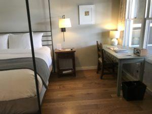 Comfy bed at Los Poblanos, ABQ, NM