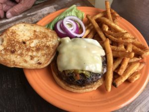 Chile Cheeseburger at the Range Cafe, Las Vegas, NM