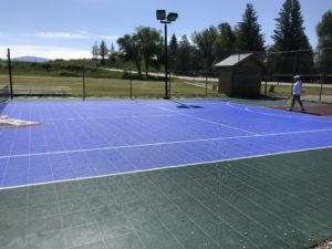 Tennis Court in Saratoga WY