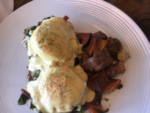 Eggs Benedict at CANTO at Los Poblanos, ABQ,NM