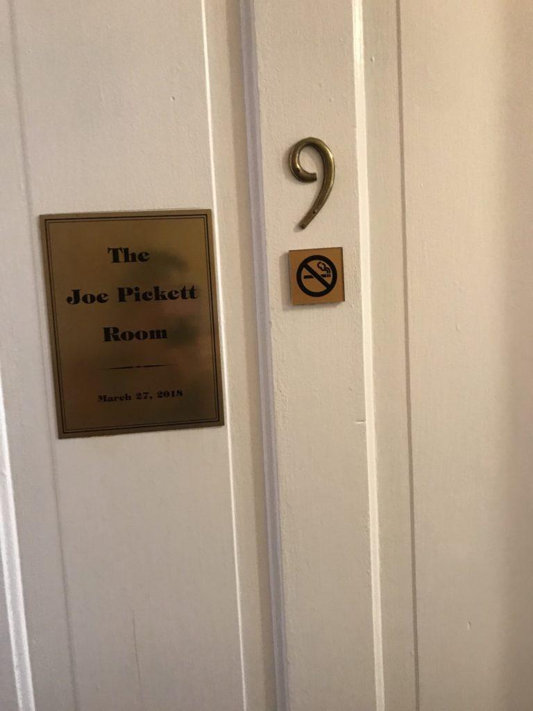 Joe Pickett Room in the Wolf Hotel, Saratoga, WY