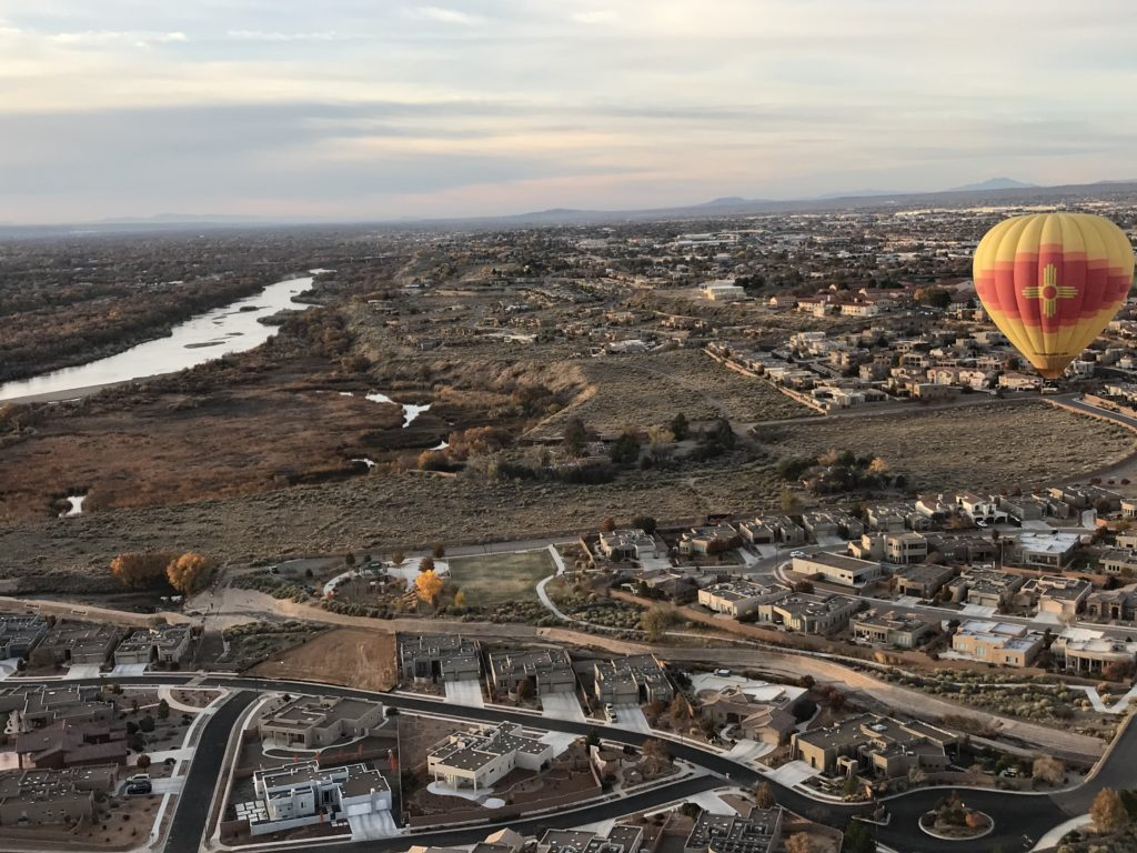 View from the hot air balloon