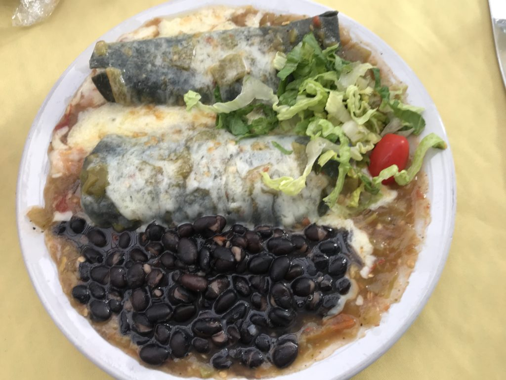 Seafood Enchiladas at Rancho de Chimayo Restaurant, New Mexico