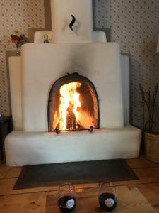 Fireplace in Rancho de Chimayo Hacienda New Mexico