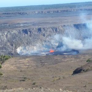 Kilauea-Caldera spewing lava and steam, Volcano, Hawaii