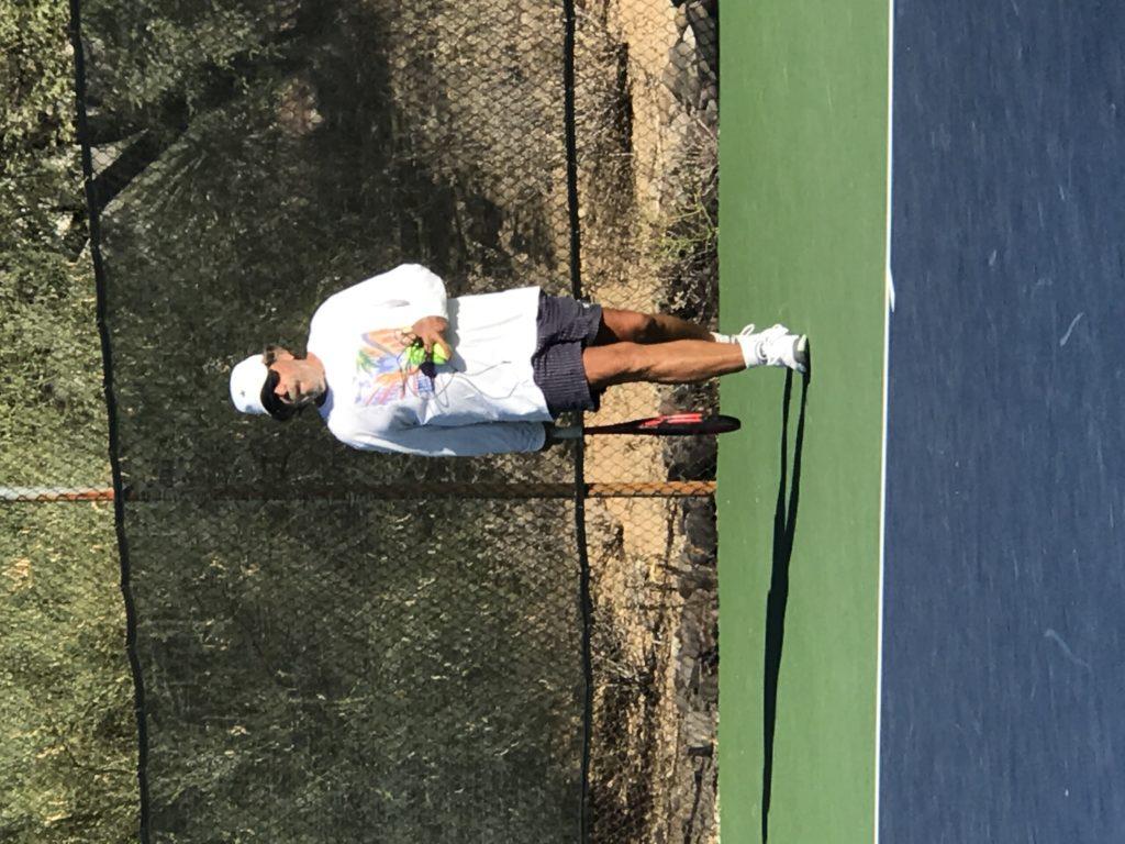 Bub on the Tennis Court