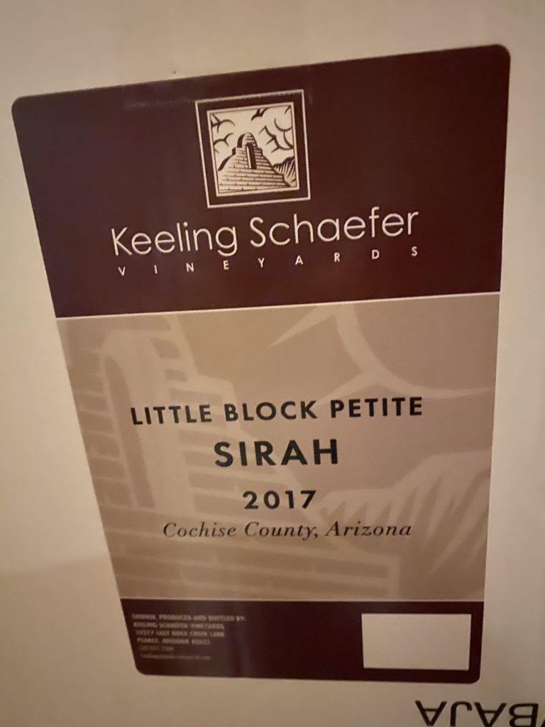 Little Block Sirah Keeling Schaefer AZ