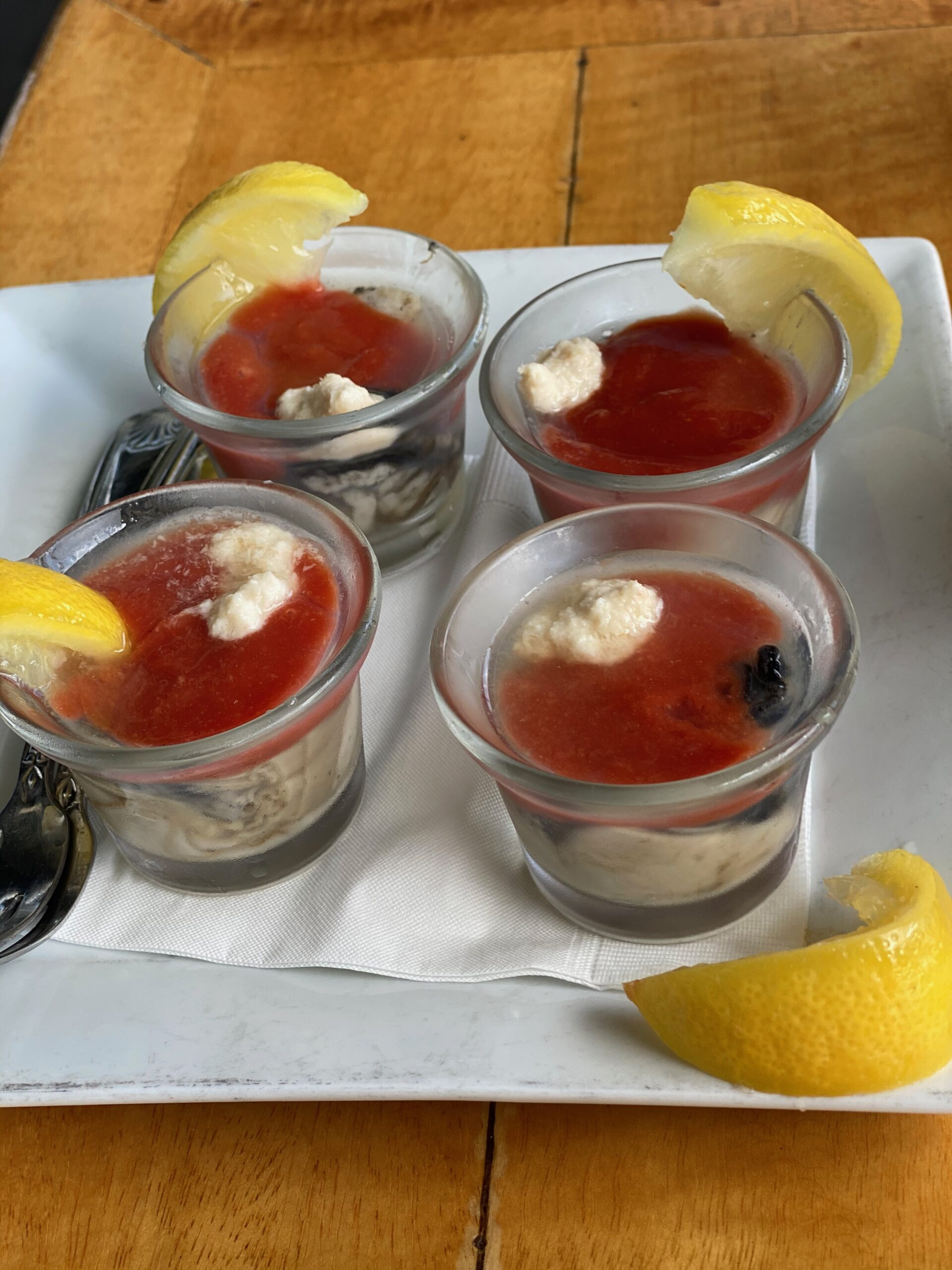 Oyster Shooters at Seafood Grill