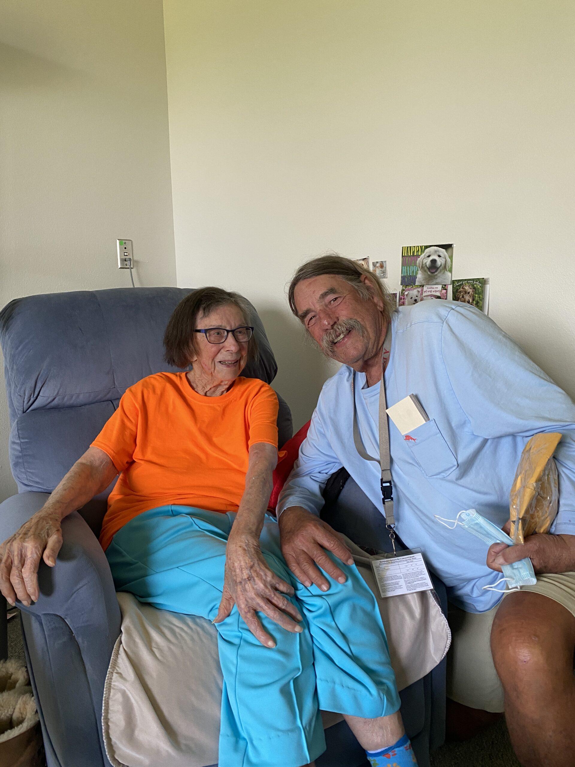 Bub's 100 year old mom, Jean Baker