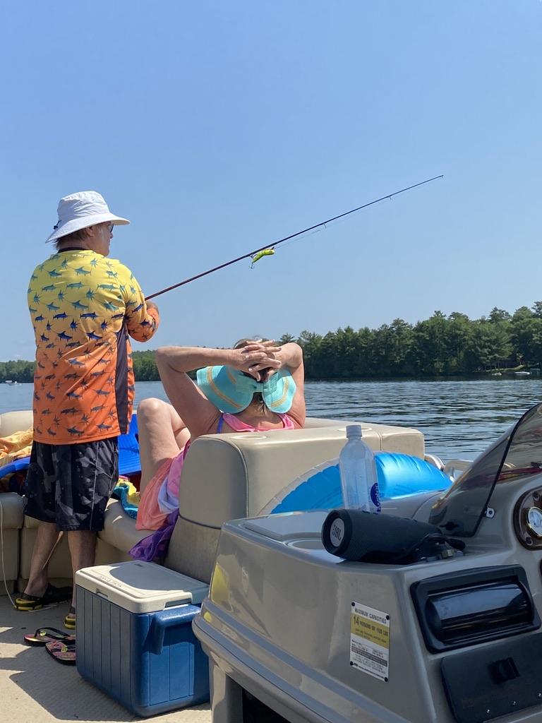 Andy fishing Grindstone Lake