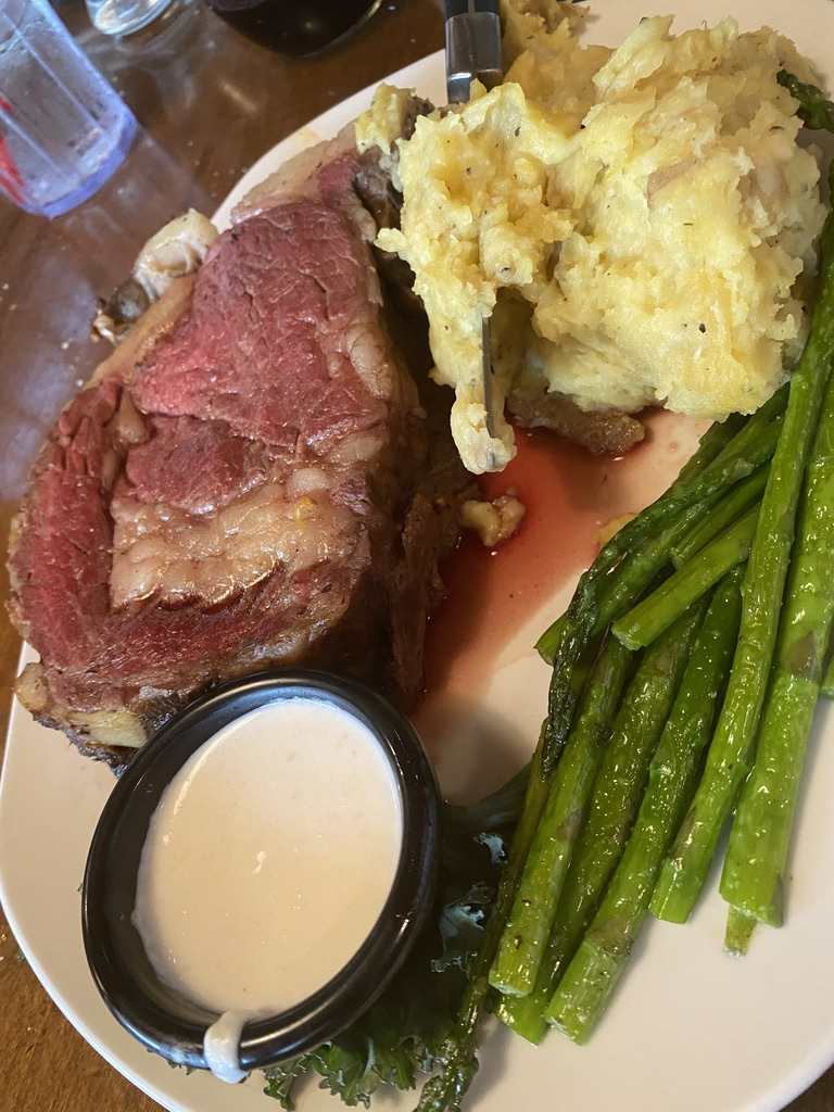 Prime Rib at The Montana Club Restaurant