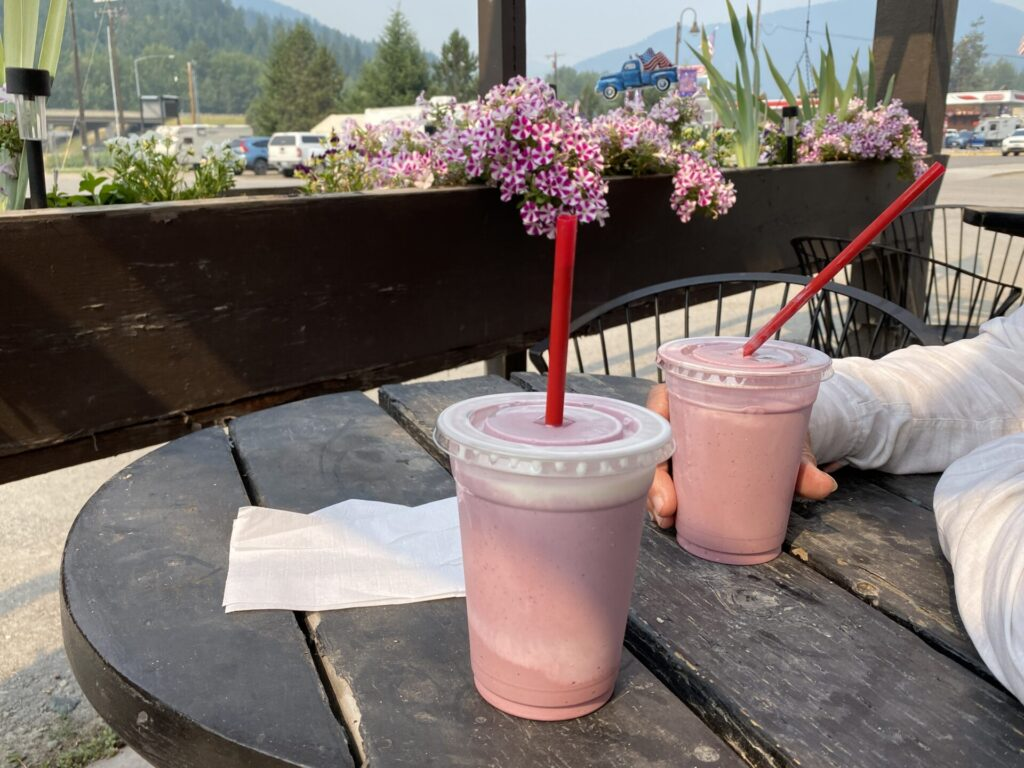 St Regis, MT Huckleberry Milkshakes