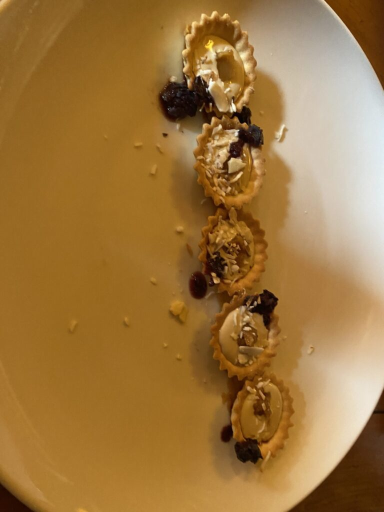 Spiced Rum Whipped Brie Tartlets at Harwood House