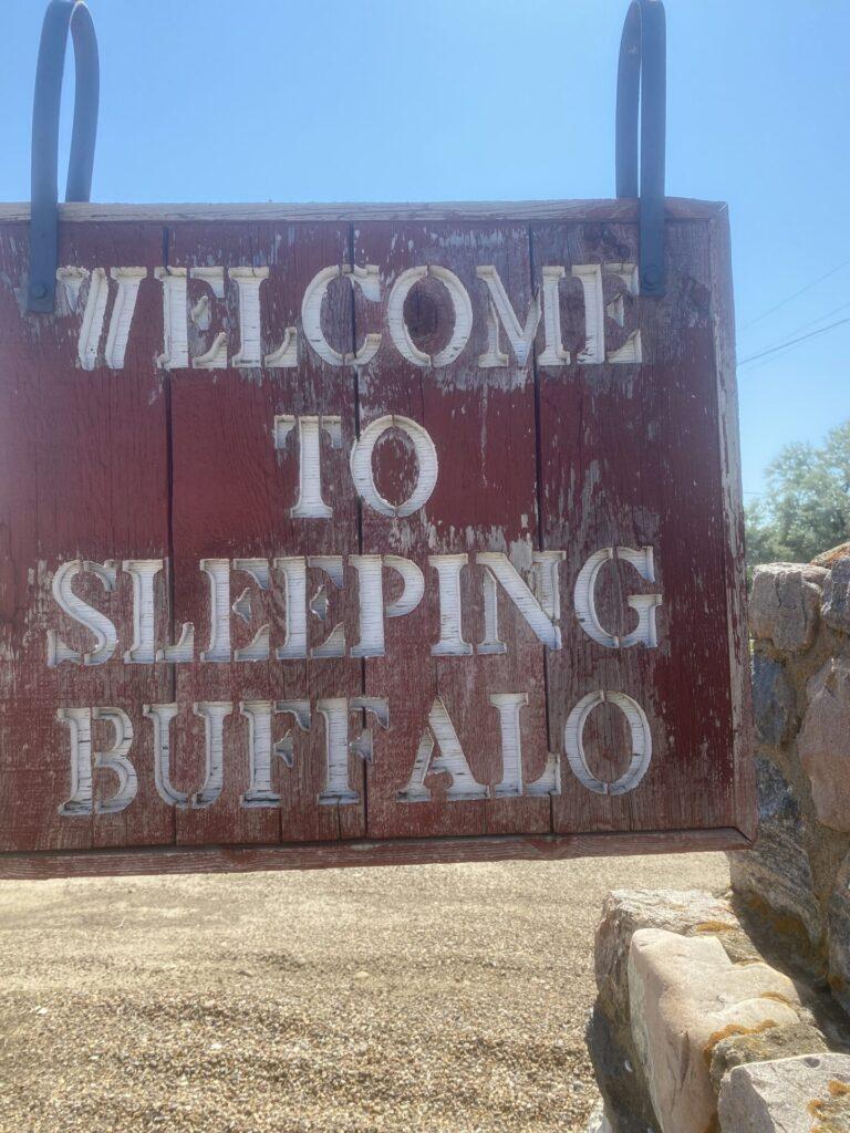 Sleeping Buffalo Hot Springs Welcome Sign