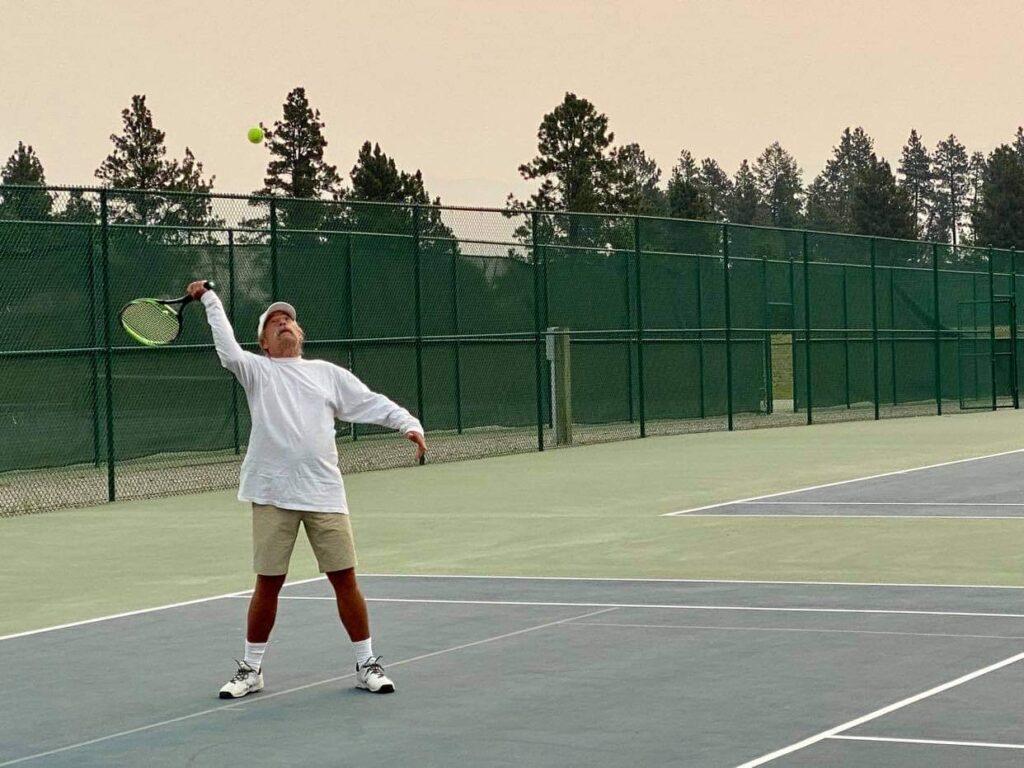 Bub Plays Tennis in Montana