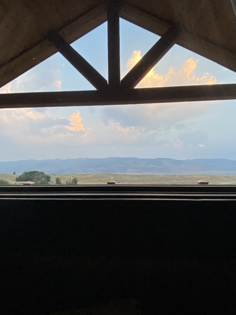 Chico Hot Springs Cabin View
