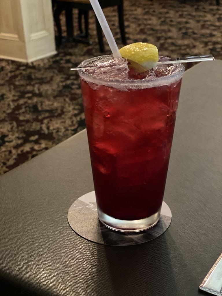 Sacajawea Pompey's Grill Huckleberry Lemonade  in Three Forks Montana